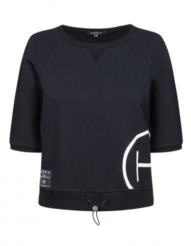 Bluza z krótkim rękawem ze ściągaczem