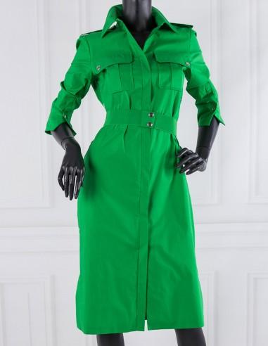 Szmizjerka z paskiem w kolorze zieleni