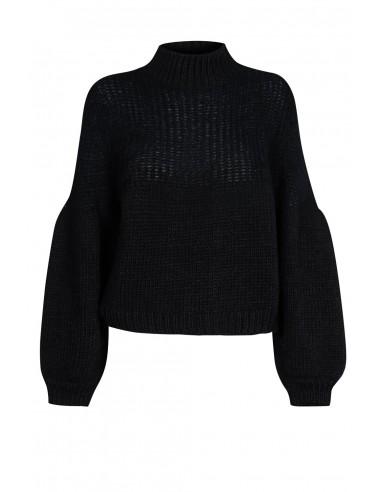 Sweter z bufiastym rękawem