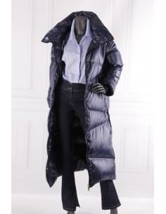 Długi puchowy płaszcz