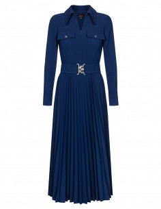 Sukienka z plisowanym dołem...