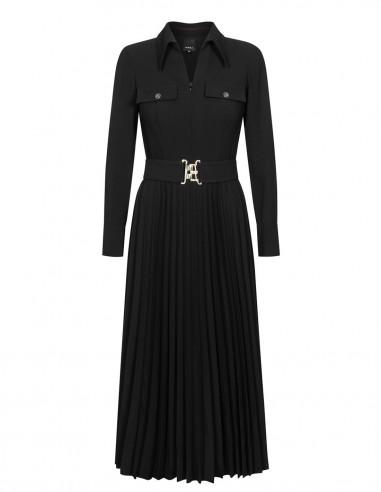 Sukienka z plisowanym dołem 2573L2