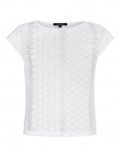 Bluzka biała z ażurowym wzorem
