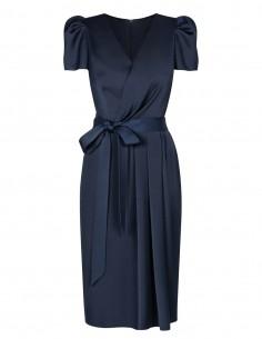 Wizytowa sukienka z krótkim...