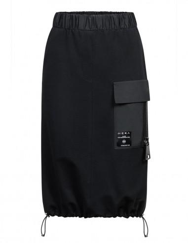 Spódnica midi z tkaniny dresowej